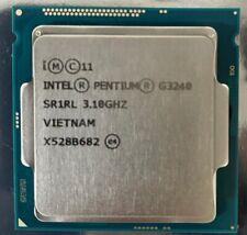 Lot of 4 INTEL PENTIUM G3240 3.10GHz Dual-Core CPU PRECESSOR SR1RL