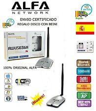 USB WiFi Alfa Network AWUS036H V5 1000mW 8187L REALTEK ANTENA ESPAÑA ENVIO