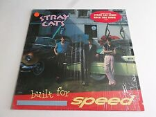 Stray Cats Built For Speed LP 1982 EMI Shrink Hype Sticker Vinyl Record