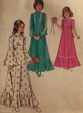 "VINTAGE 1974 'STYLE' CLASSIC BELL SLEEVE FLOWER GIRL DRESS PATTERN  SIZE 10 28""B"