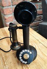 Altes Antikes Telefon - Candle Stick - Gußeisern