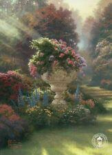The Garden of Hope - Flowers, Sun Rays, Steps - Thomas Kinkade Dealer Postcard