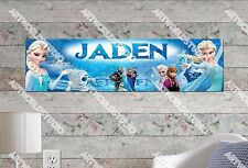 Personalized/Customized Frozen #1 Name Poster Wall Art Decoration Banner