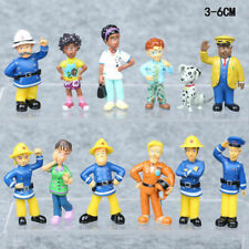 CUTE 12pcs/set Fun Fireman Sam PVC Action Figures Cartoon Doll Kids Toy Gift
