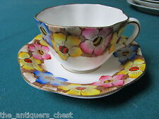 1940s  Vintage teacup & saucer Bone China Taylor Kent Longton England #6404[*109