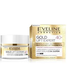 Eveline Luxury Face Firming Cram Serum 24K Gold Day Night Gold Lift Expert 40+