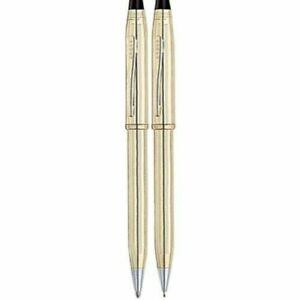 Cross Century II Set 10K Gold Ballpoint Pen & 0.5 mm Pencil In Box 450105Wg Mint