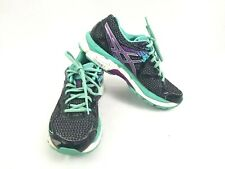 ASICS GT-2000 3 Women's Size 6 Running Shoes Black Purple Turquoise T550N