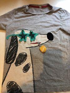 Boys 6-7 Marks Amd Spencer Dog T-shirt