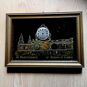 Vintage Ammon Watch Parts Picture C1970s St Paul's Cathedral Framed
