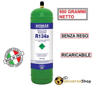 BOMBOLA GAS R134A REFRIGERAN  DA 1 LT 900 GR NETTO  CLIMATIZZATORE MADE IN ITALY