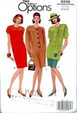 Misses Dress Tunic Skirt Vogue Easy Options Vintage Pattern 8248  Sz 20-24 Uncut