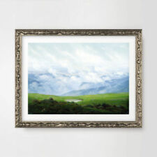 Green Traditional Landscape Art Prints