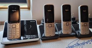 Gigaset SX810A Telefon, ISDN Schnurlos 4 Mobilteile,  Dect, Anrufbeantworter