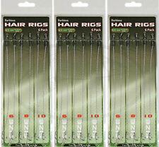 18 X Carpa Ami capelli Rigs Basso Pesca 12lb TRECCIA TERMINALI TACKLE 6 8 10