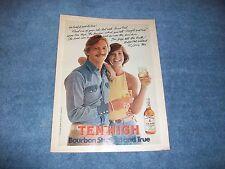 "1975 Hiram Walker's Ten High Bourbon Whiskey Vintage Ad ""Straight & True"""