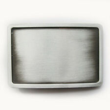 Men Belt Buckle New Vintage Plated Rectangle Blank Belt Buckle also Stock in US
