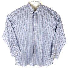 TED BAKER Endurance Mens Plaid Button Front Dress Shirt Size 17.5 34/35