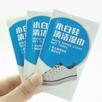 30 Pcs/box Portable Disposable Sneakers White Shoes Cleaning Wipes Wet Towels