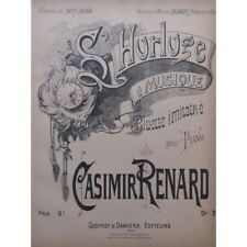 RENARD Casimir L'Horloge à Musique Piano partition sheet music score