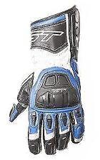 Guanti da corsi blu per motociclista dita