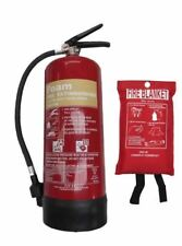 6 Kg ABC Powder Fire Extinguisher 1 Mx1m Blanket - Commercial Use BSI Kitemark