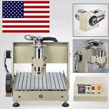 4Axis 800W CNC3040 3D Engraver Router Ballscrew Engraving Drilling Machine+MACH3