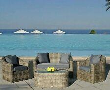 Bridgman Mayfair Rattan Garden Furniture Set 2x Armchair 1x Sofa 1x Coffee Table