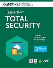 Kaspersky Total Security 10 PC 1YR Multi-Device 2017 Global Region Free