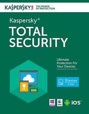 Kaspersky Total Security 3PC 1YR Multi-Device 2017 Global Region Free