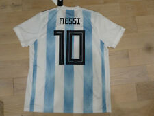 392006941 NWT Adidas 2018 World Cup Argentina  10 Leo Messi Blue White Home Jersey (XL
