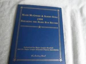 1998 Danbury Mint Gold Card Set Mark McGuire & Sammy Sosa