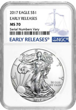2017 AMERCIAN SILVER EAGLE  ** PERFECT NGC MS70 **  EARLY RELEASE