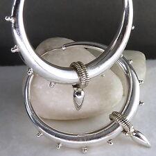 HOLLOW DROP Hoops XL SilverSari Earrings Solid 925 Sterling Silver ES1036