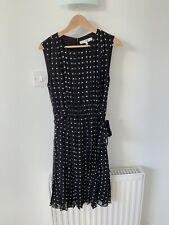 "Lk Bennet Silk Dress Spotty/Pleats ""DR Jackey"" Size 14"
