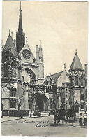 London, England vintage Postcard - Law Courts in The Strand - 1906