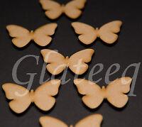 50mm Butterflies MDF wooden shape, craft embellishments scrapbooking Wood Art