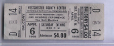 Apr 6,1968 JIMI HENDRIX ORIGINAL UNUSED FULL TICKET WHITE PLAINS