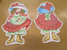 Cloth Doll Pattern Pillow Panel Petticoats & Pantaloons Vintage Red Dress