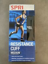 Spri Resistance Cuff Leg/Ankle Band Medium w/Exercise Guide Home Workout
