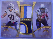 2013 FIVE STAR KEENAN ALLEN/MANTI TE'O Dual Patch Relic 10/15  SICK PATCH