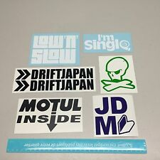 JDM decals set of 7 car stickers low & slow drift japan i'm single #6