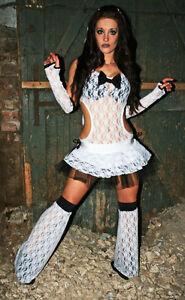 Funki-B halloween gothic bride lace veil sexy tutu costume net zombie fancydress