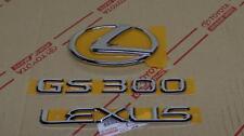 2006 *Neu* Oem Lexus GS300 Chrom Kofferraum Emblem Set 06 Gs 300