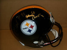 Aaron Smith, Pgh Steelers, Signed Steelers Full Size Helmet, 2x SB Champs Inscp