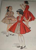 Vintage 1950s McCall's 4426 Girls Dress & Redingote Pattern sz 12 Unct 30B