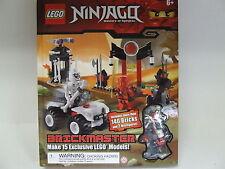 LEGO Ninjago ! Brickmaster 140 Bricks and 2 mini figs. ! bricks sealed & NEW !