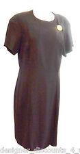 Ann Tjian for Kenar 2 Vintage Black Button Evening cocktail career Dress Size 12