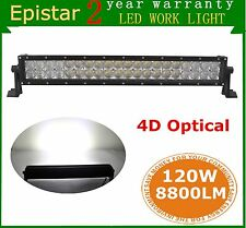 "23"" 120W 4D Lens Curved LED Work Light Bar Combo Off-road Truck Boat 4X4WD UTE"