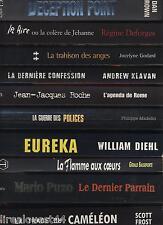lot de 10 livres policier thriller romans historiques Dan Brown Parrain